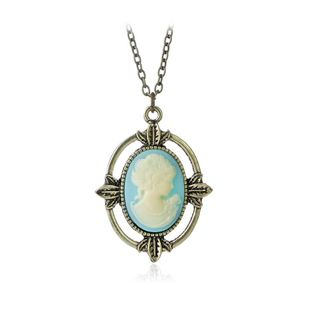 Gem necklace fashion alloy necklace yiwu nihaojewelry wholesale NHMO208014's discount tags