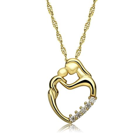 New love you forever silver pendant necklace decoration mother's day necklace wholesale NHKN208018's discount tags