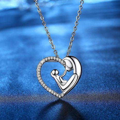 New fashion simple love pendant mother's day necklace wholesale NHKN208019's discount tags