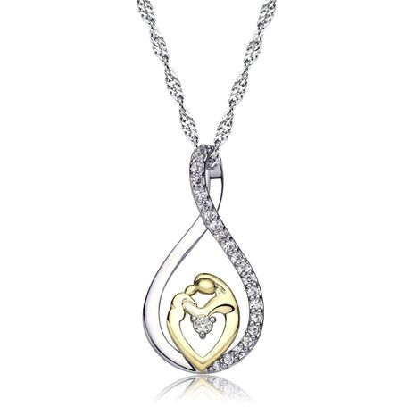 Mother day jewelry silver necklace wholesale NHKN208020's discount tags