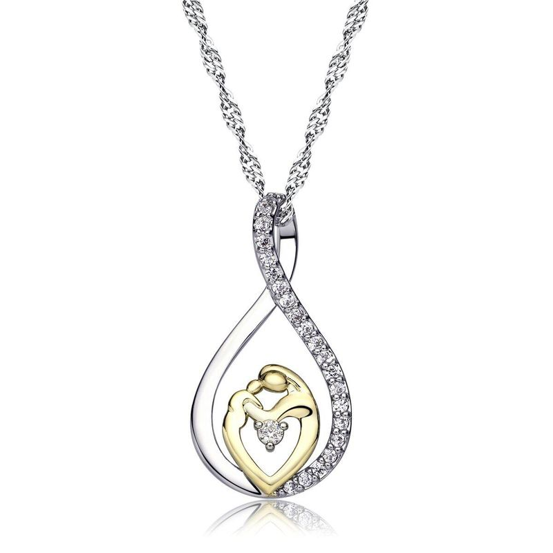 Mother day jewelry silver necklace wholesale NHKN208020