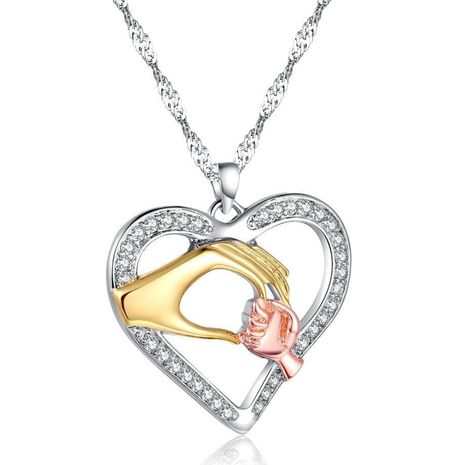 New Fashion Heart Necklace Pendant Mother's Day Necklace Wholesale NHKN208021's discount tags