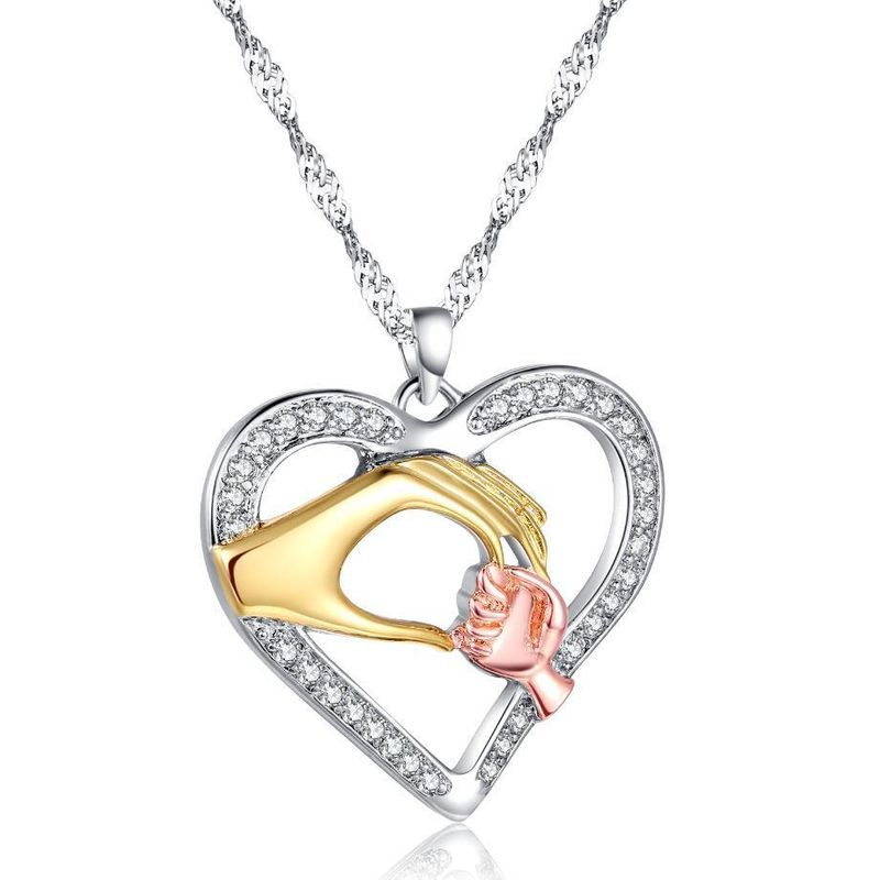 New Fashion Heart Necklace Pendant Mother's Day Necklace Wholesale NHKN208021