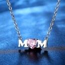 New Mother39s Day Necklace Pink Heart Shaped Zircon Alphabet Necklace Necklace Wholesale NHKN208023