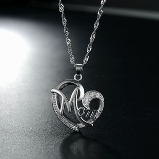 New fashion simple heart-shaped zircon necklace wholesale NHKN208027's discount tags