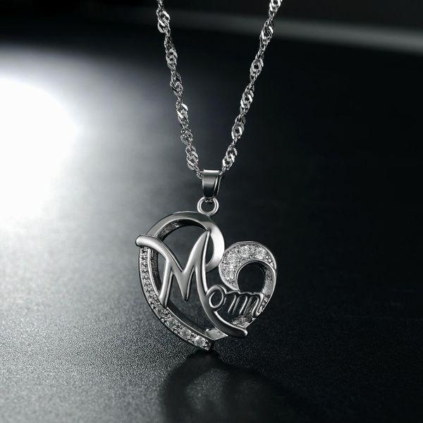 New fashion simple heart-shaped zircon necklace wholesale NHKN208027