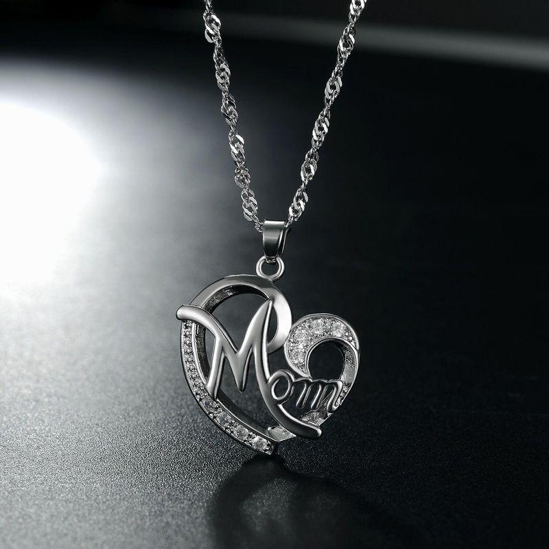 New fashion simple heartshaped zircon necklace wholesale NHKN208027