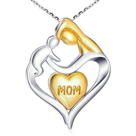 Mother's Day necklace wholesale clavicle chain mother and child pendant heart-shaped necklace yiwu nihaojewelry wholesale NHKN208035's discount tags