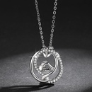 New mother39s day necklace wholesale hand in hand necklace inlaid zircon necklace yiwu nihaojewelry wholesale NHKN208036