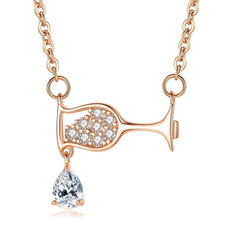 New fashion zircon water drop necklace for women wholesale NHKN208038