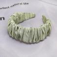 NHDM606454-Bean-green-pleated-check-hair-band
