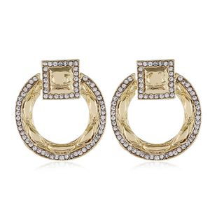 fashion new jewelry personalized shape alloy diamond earrings nihaojewelry wholesale NHVA215008's discount tags
