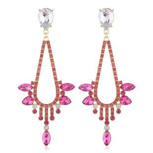 fashion new  retro alloy diamond earrings nihaojewelry wholesale NHVA215009's discount tags