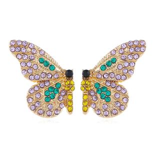 fashion earrings simple wild personality Korean diamond colorful butterfly earrings nihaojewelry wholesale NHVA215012's discount tags
