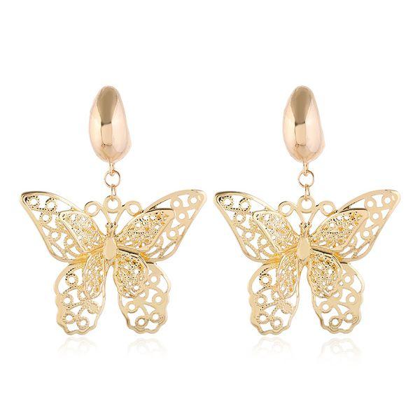 simple butterfly earrings  new wave personality design ear clip earrings nihaojewelry wholesale NHVA215013
