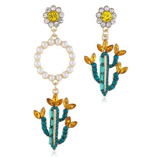 fashion  exaggerated cactus pearl irregular earrings nihaojewelry wholesale NHVA215016's discount tags