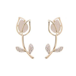 fashion new 925 silver needle rose shape  exaggerated design  copper earrings  nihaojewely wholesale NHVA215024's discount tags