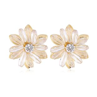 fashion exaggerated flower simple rhinestone earrings nihaojewelry wholesale NHVA215025's discount tags