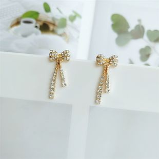 new fashion  exaggerated  personality alloy bow earrings exaggerated  earrings nihaojewelry wholesale NHVA215037's discount tags