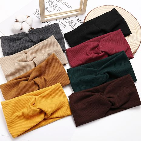 simple knitted cross hair band yoga sports men and women fashion sweat-absorbent turban  hair accessories nihaojewelry wholesale NHPJ215045's discount tags