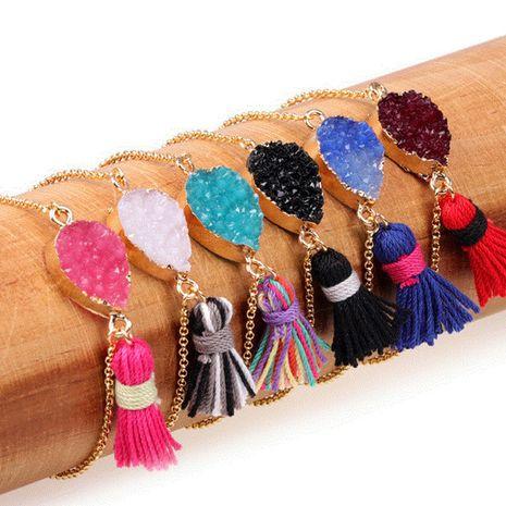 Mode en forme de goutte en résine résine cristal pendentif dent bracelet gland bracelet nihaojewelry gros NHPY215052's discount tags