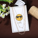 new  hot sale  fashion multilayer alloy pendant clavicle chain evening dress accessories necklace nihaojewelry wholesale  NHJQ215057