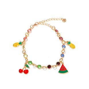 Korean  fashion  wild pineapple fruit pendant with colorful diamond  bracelet nihaojewelry wholesale  NHJQ215059's discount tags