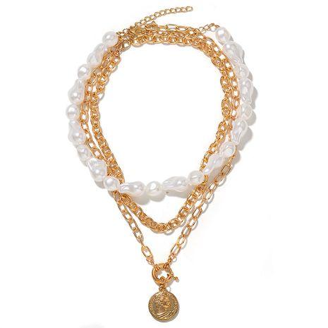 moda nuevo collar de perlas de múltiples capas nihaojewelry al por mayor NHJQ215077's discount tags