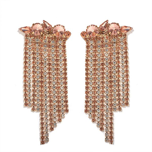 new hot-sale  earrings Korean earrings long French retro full of diamond  earrings  nihaojewelry wholesale  NHJQ215079