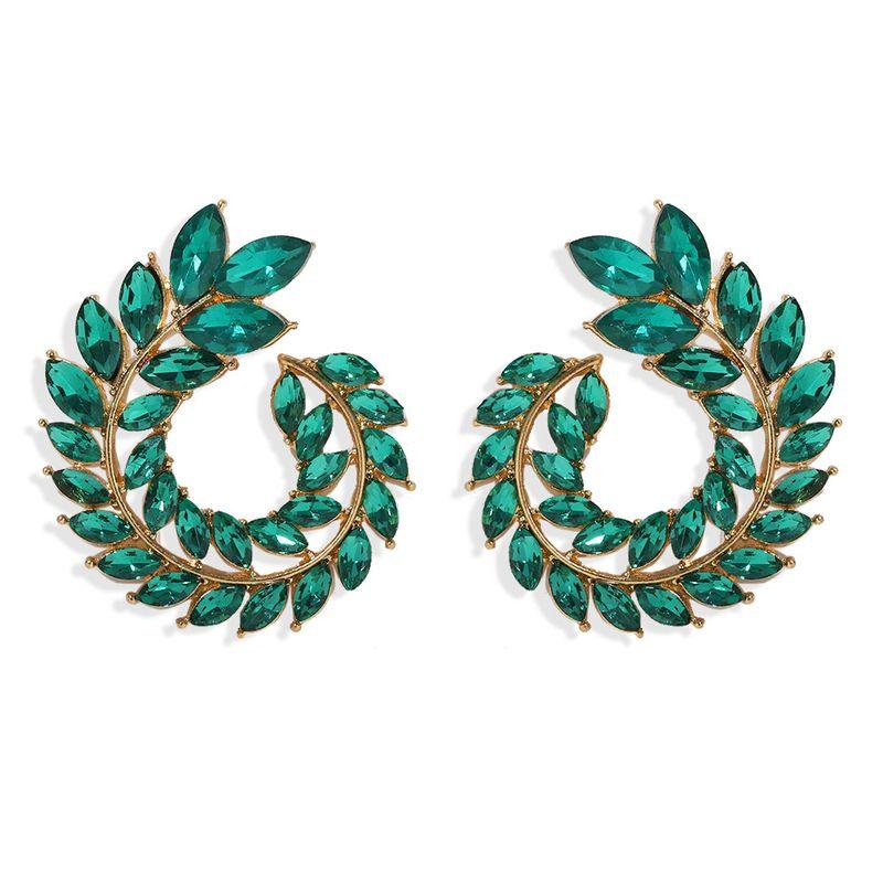 New earrings retro fashion  diamond alloy earrings nihaojewelry wholesale NHJQ215083