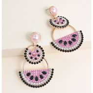 new fashion  earrings watermelon pomelo fruit earrings  nihaojewelry wholesale NHJJ215091