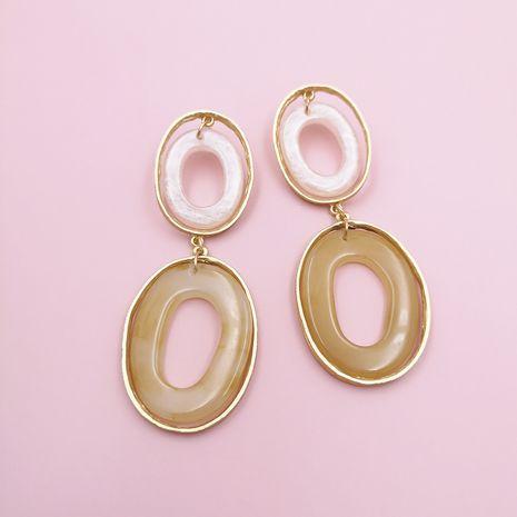 Corée rétro géométrique simple résine acrylique boucles d'oreilles nihaojewelry gros NHJJ215092's discount tags