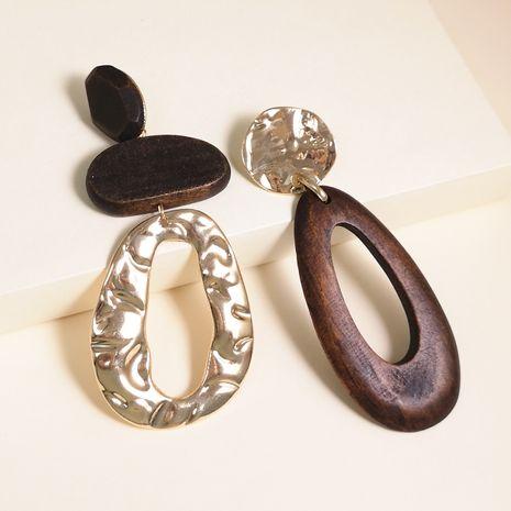 New fashion  drop-shaped wooden alloy earrings  geometric creative retro simple classic  irregular earrings nihaojewelry wholesale NHJJ215095's discount tags