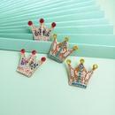 Fashion new  crown  for women full of  diamond cute simple  earrings  nihaojewelry wholesale NHJJ215096