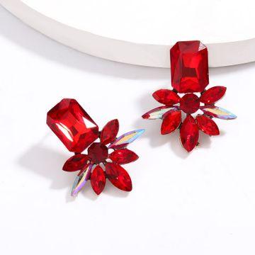 Exaggerated  super flash alloy diamond rhinestone geometric earrings female retro full diamond earrings nihaojewelry wholesale NHJE215118