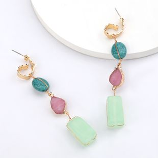 new alloy string turquoise original stone long earrings nihaojewelry wholesale  NHJE215124's discount tags