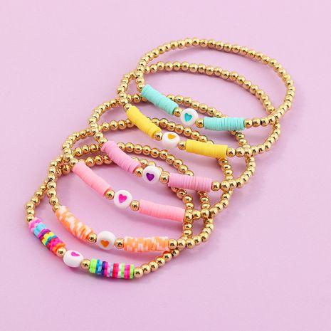 bracelet bohème nihaojewelry gros bracelet en céramique souple coloré bracelet de perles d'amour sauvage corde d'amitié NHNZ215135's discount tags