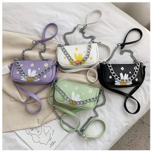 summer shoulder bags women nihaojewelry  small daisy chain portable armpit bag shoulder messenger bag wholesale NHPB214952's discount tags
