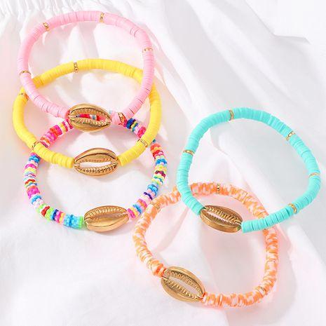 bohème plage vent shell bracelet nihaojewelry gros naturel shell bracelet tissé à la main doux céramique pièces amitié corde femelle NHNZ215137's discount tags