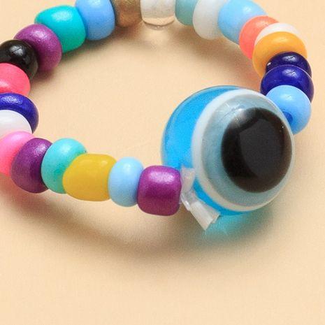 nouvelle mode personnalité résine oeil anneau couleur riz perle anneau joint anneau nihaojewelry gros NHNZ215139's discount tags