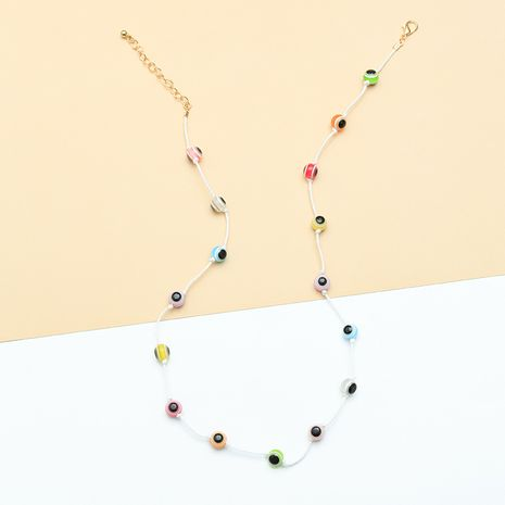 fashion eye necklace nihaojewelry wholesale resin eye necklace women's choker necklace NHNZ215140's discount tags