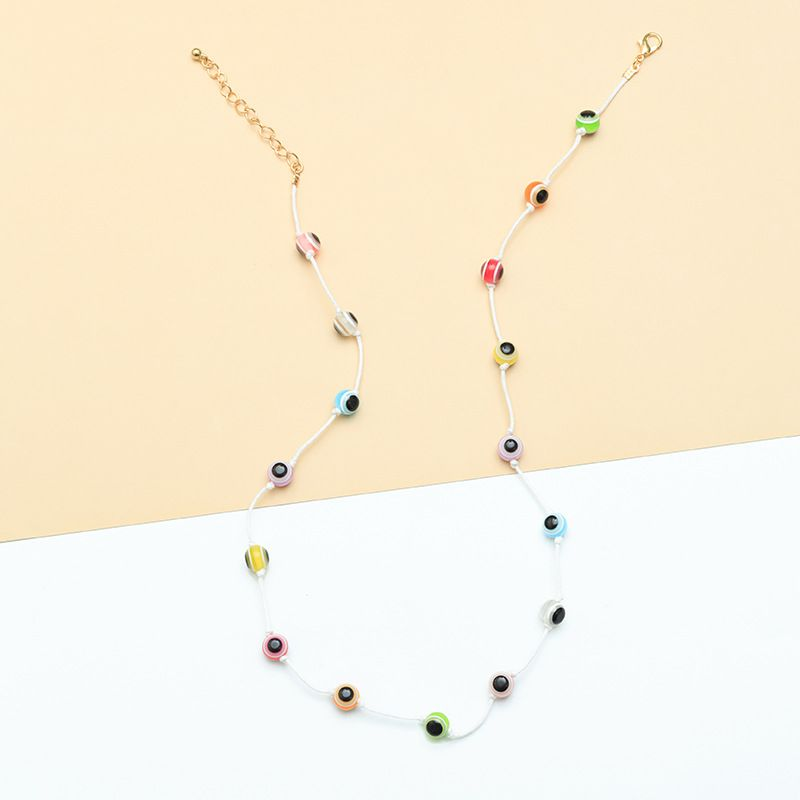 fashion eye necklace nihaojewelry wholesale resin eye necklace women's choker necklace NHNZ215140