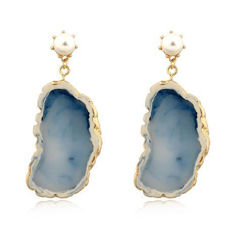nouvelle mode exagéré boucles d'oreilles perle imitation agate pièce boucles d'oreilles résine boucles d'oreilles nihaojewelry gros NHGO215149's discount tags