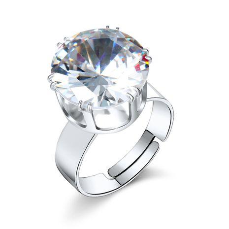 nouvelle mode simple grand cristal anneau de zirconium diamant bague réglable nihaojewelry gros NHGO215161's discount tags