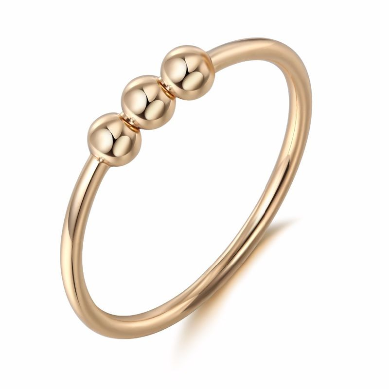 new simple cold wind ring bead ring  jewelry niche ring nihaojewelry wholesale NHGO215163
