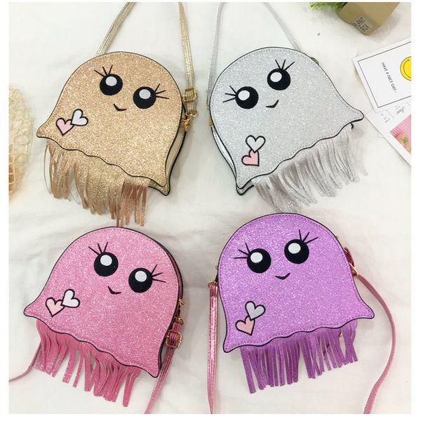 Summer shoulder bags tassel jellyfish crossbody bag new Korean women bags fashion laser mini cute shoulder bag NHPB214940