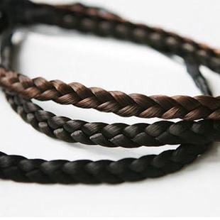 Accesorio para el cabello coreano al por mayor peluca trenzada torcida elástica con tocado de trenza NHSC214964's discount tags