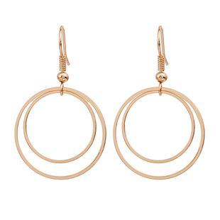 hot round earrings nihaojewelry wholesale geometric double circle earrings earrings gold plated silver earrings girls NHMO215177's discount tags