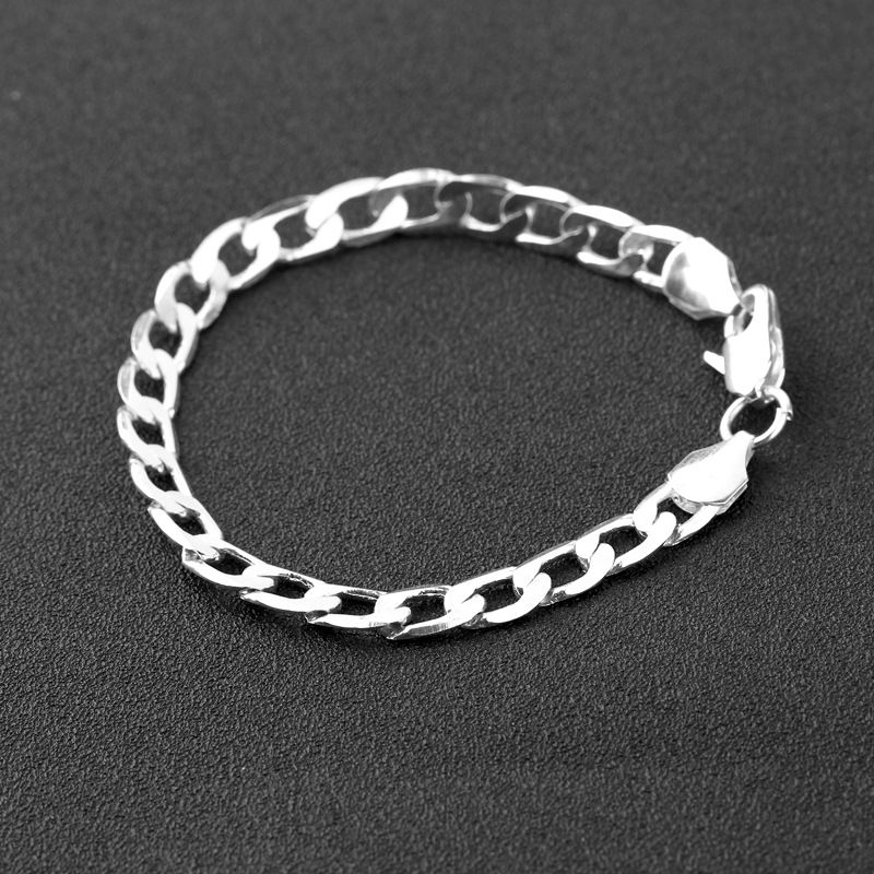 new fashion  Popular Atmosphere Fashion Silver Jewelry Gold Code Men and Women Couples Bracelet Wholesale NHMO215192