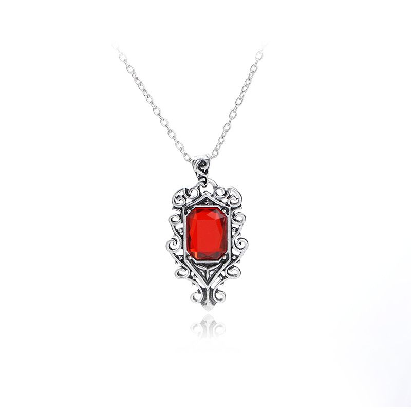 new fashion  personality creative ruby deadly instrument angel necklace nihaojewelry wholesale NHMO215202